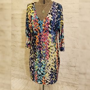 Trina Turk Geometric Print Tunic Shift Dress